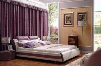 спальня в фиолетовом цвете