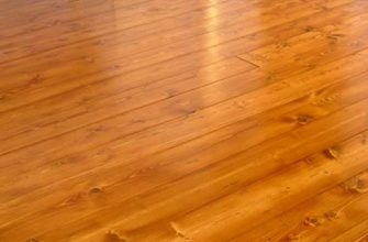 деревянный теплый пол