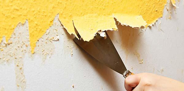 чиста стены от обоев